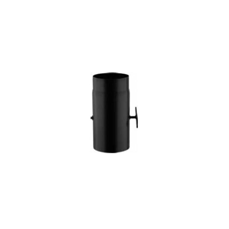 Tubo per stufa a legna tubo diritto 300 mm con valvola per stufa a legna - Tubi stufe a legna ...