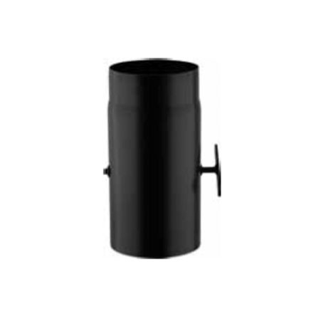 tubo diritto 300 mm con valvola per stufa a legna